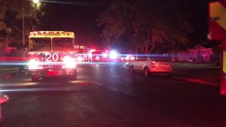 Dozens of Fresno firefighters battle apartment, house fires on opposite sides of town