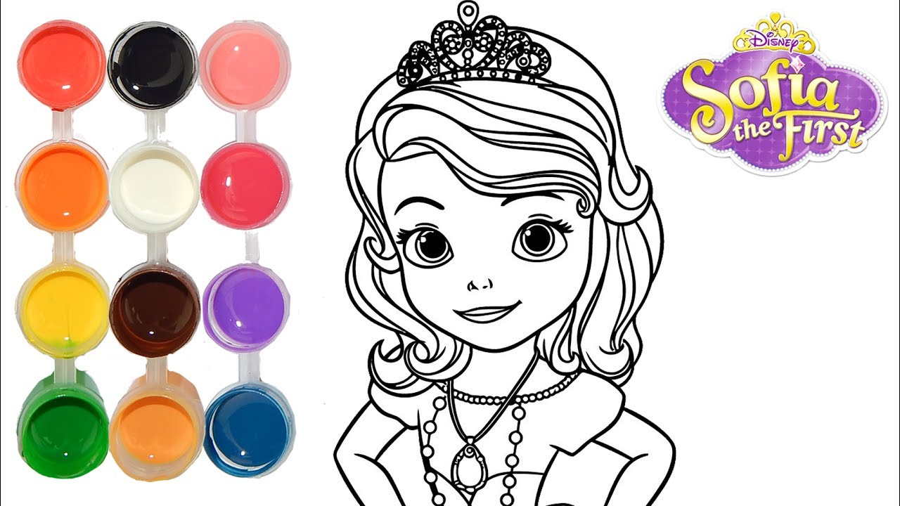 How To Draw Amp Color Sofia The First Princess Drawing On