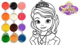 How to Draw & Color Sofia the First Princess | Drawing on New Learning Kids | Toddlers Learn Colors