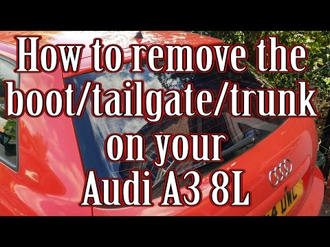 How to remove the boot/tailgate/trunk on your Audi A3 8L