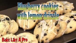How To Make Blueberry Cookies With Lemon Drizzle