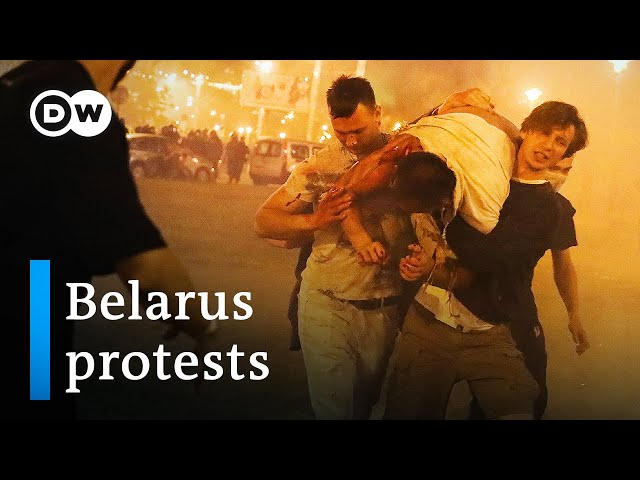 Violent protests in Belarus after Lukashenko claims election victory
