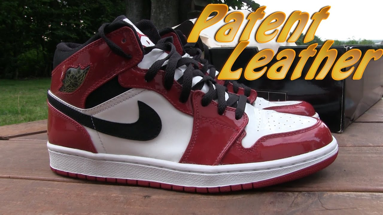 Air Jordan 1 Retro Patent Leather (White/Black) Varsity Red - On Feet -  YouTube
