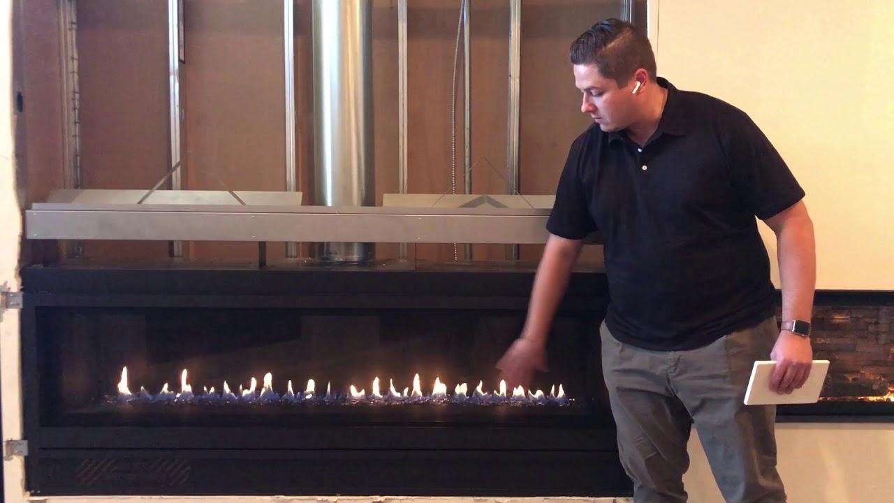 """Pro Builder Fireplace Xtrordinair 74"""" Linear Gas Fireplace ..."""