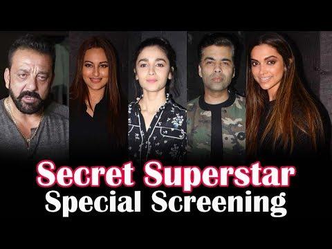 Secret Superstar Movie Special Screening   Deepika Padukone, Alia Bhatt, Karan Johar, Sanjay Dutt