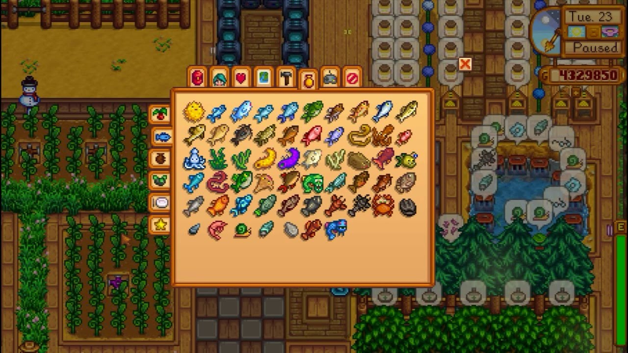 My in game achievement stardew valley youtube for Where can you get a fishing license
