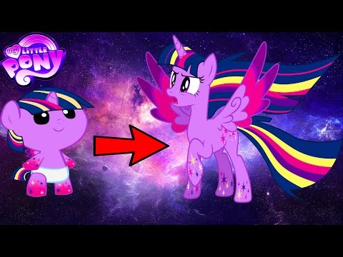 My Little Pony Mane 7 Transforms From Baby To Rainbow Power - MLP Coloring Book For Kids