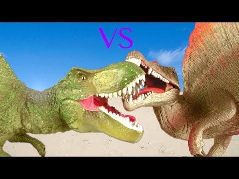 Dinosaur Fight Dinosaur Battle Tyrannosaurus VS Spinosaurus - Dinosaur toys