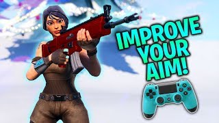 How to Improve Aim/Accuracy on Controller! Warm-Up Course (Fortnite Console PS4/Xbox)