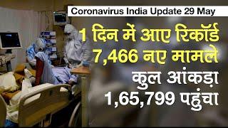 Coronavirus India update  कोरोना ने तोड़ा रिकॉर्ड, पिछले 24 घंटों में देश में 7,466 नए मामले दर्ज - Watch Video