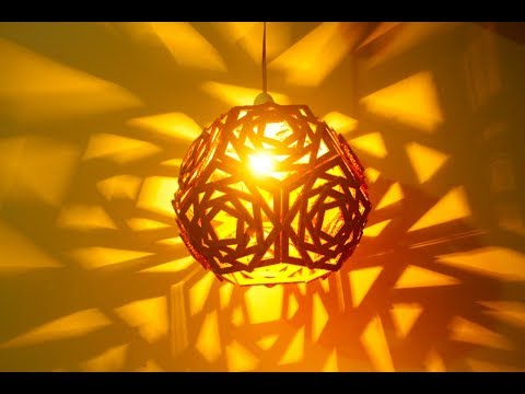 How To Make Lampshade Using Cardboard |  Recycled Cardboard lampshade Ideas | DIy Crafts