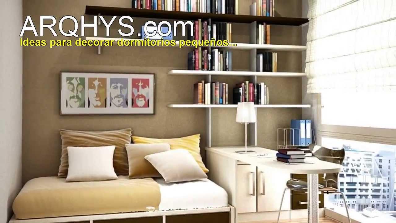 Dormitorios peque os ideas para decorarlos colores - Ideas dormitorios pequenos ...