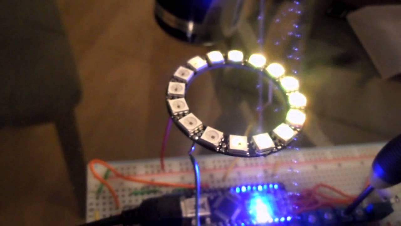 Arduino nano oled neopixel ring youtube