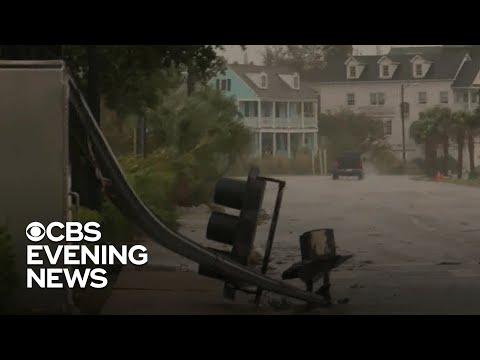 Dorian Hits Charleston, South Carolina, With Heavy Winds And Rain