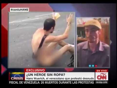 Entrevistan a Hans Wuerich, joven que se desnudó en Venezuela contra Maduro