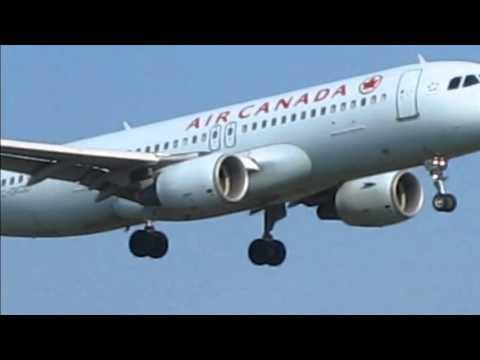 "Air Canada Landing At ""Ottawa Airport"" YOW 8/20/13 Columbia Photos"
