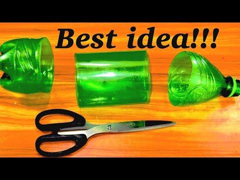 Plastic bottle craft ideas - easy plastic bottle reuse idea - plastic bottle new craft