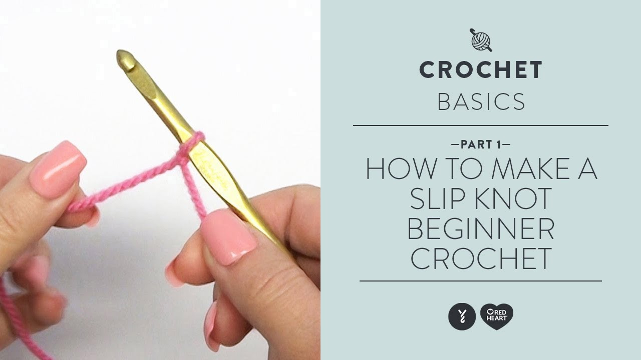 How to Make a Slip Knot - Beginner Crochet Teach Video #1 - YouTube