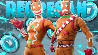 "Playing With the Skin ""Ginger Cookie""The Return-Fortnite Battle Royale"