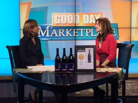 Susan Danenberger talks on Fox Illinois about her wine, CoupDeFoudre