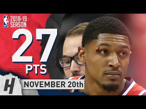 Bradley Beal Full Highlights Wizards vs Clippers 2018.11.20 - 27 Pts, 7 Ast, 3 Rebounds!