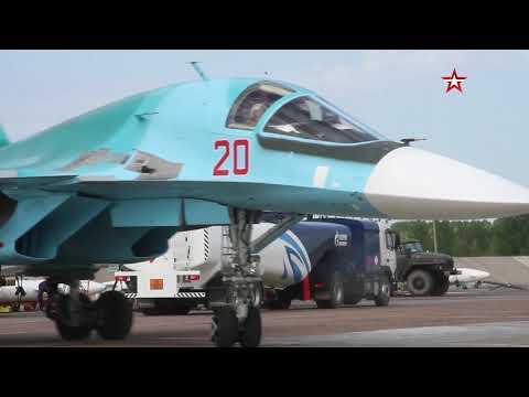 Экипажи Су-34 готовятся к конкурсу «Авиадартс-2020»