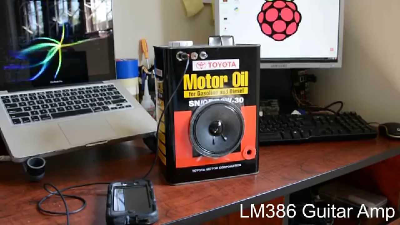 Diy Lm386 Guitar Amp  Boom Box