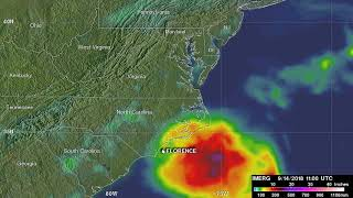 IMERG Video of Rainfall Over the Carolina