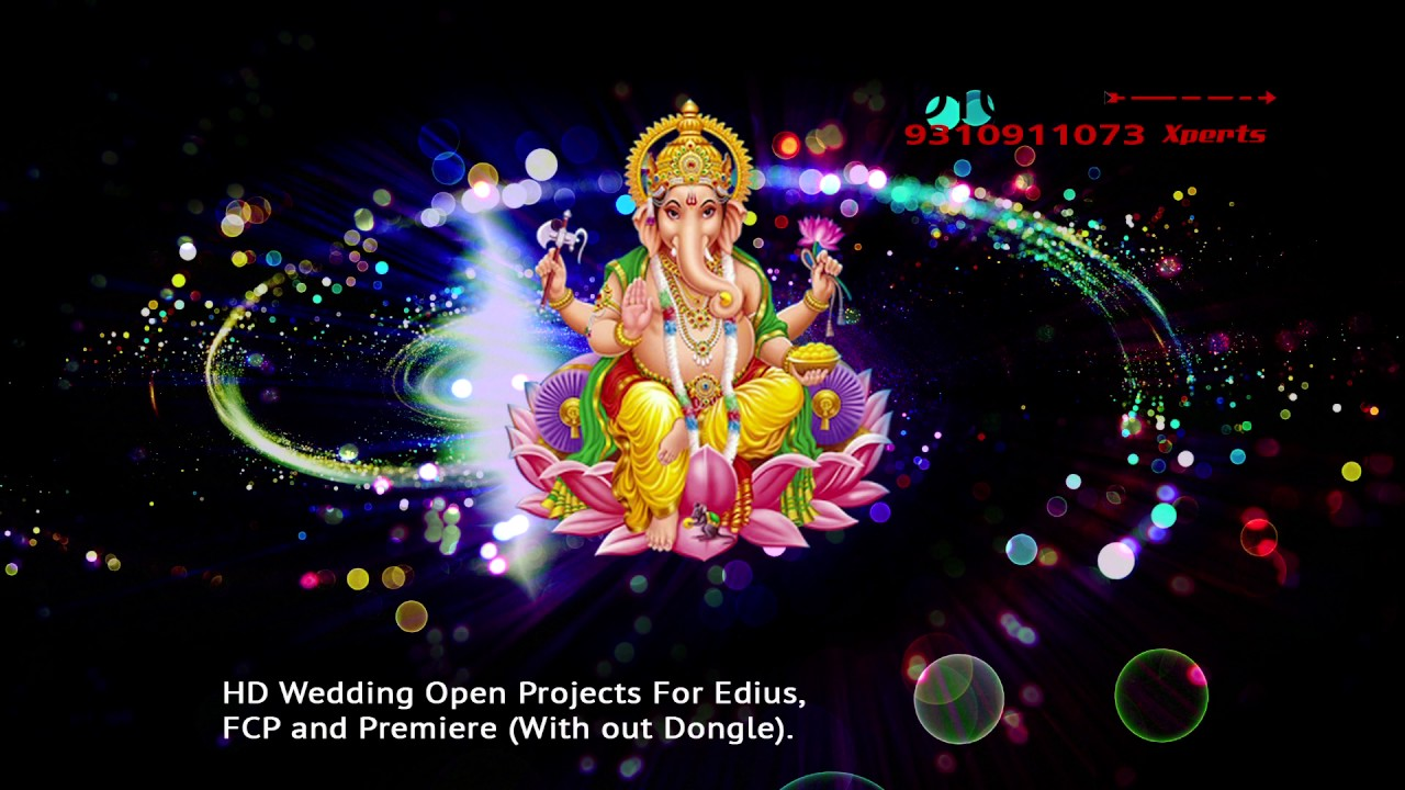 Hd Lord Ganesh Background Animated Video 4k Wedding Starting God