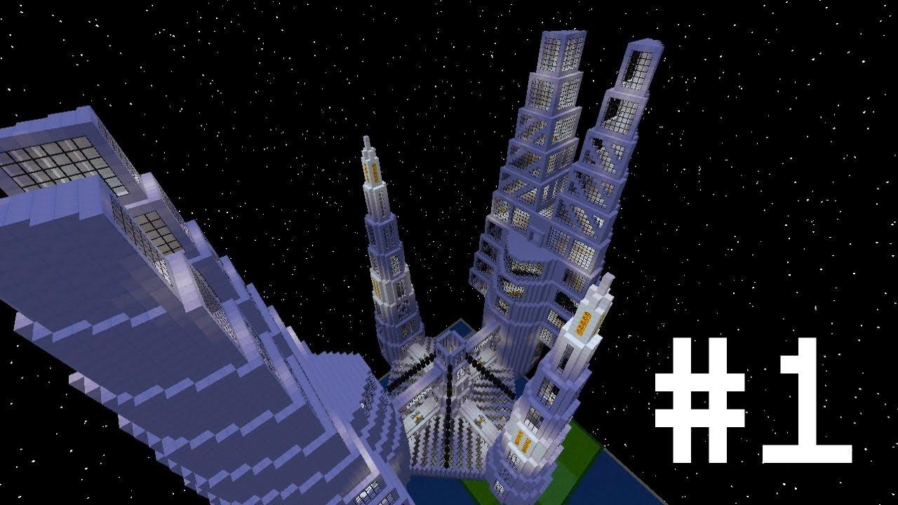 Minecraft Space Station Mega Build #1 - YouTube