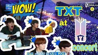 Download lagu Indo Sub | TXT Bertemu BTS: Menonton konser hyungs 🎉