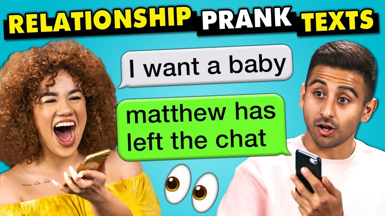 10 Funniest Relationship Prank Texts | The 10s (React)