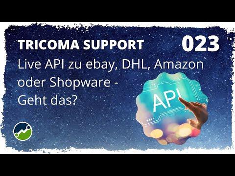 tricoma support #023: Live API zu ebay, DHL, Amazon oder Shopware? Abgleiche schneller? Geht das?