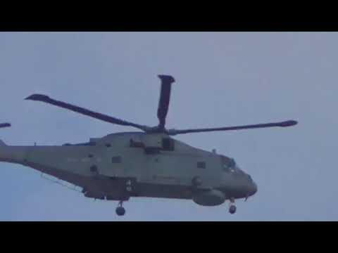 Royal Navy Agustawestland Merlin MK2 HM1 EH101 AW101 ZH857 824NAS Naval Air Squadron Culdrose