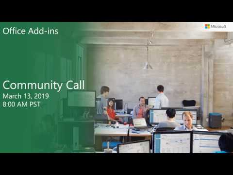 Office Add ins community call-March 2019 thumbnail