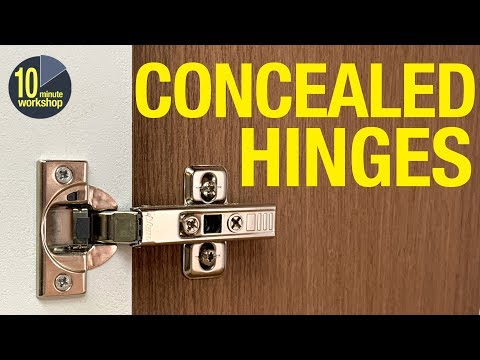 How To Fit Concealed (Euro-style) Hinges For Overlay & Inset Cabinet Doors [video # 348]