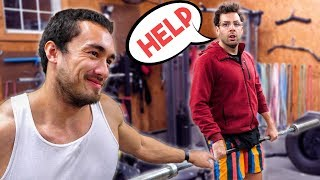 Pro Weightlifter Teaches Noob Olympic Lifts in 35 SECONDS!