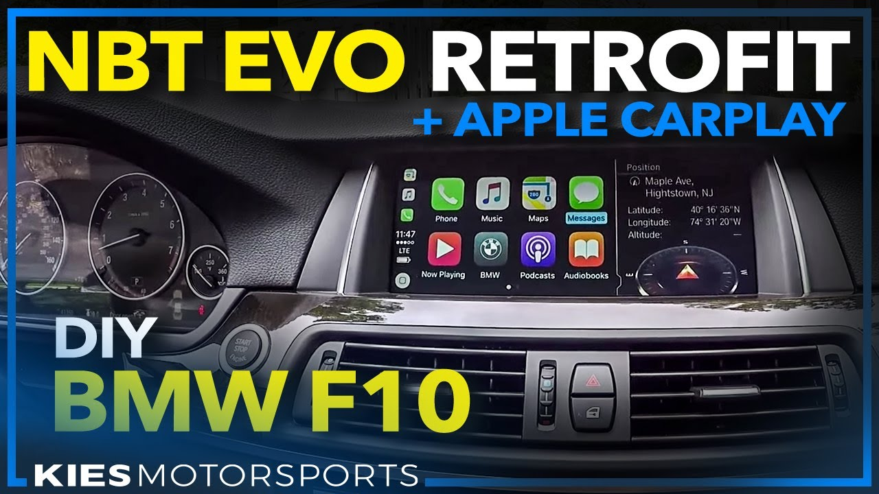 nbt evo retrofit with apple carplay in an f10 2012 bmw. Black Bedroom Furniture Sets. Home Design Ideas