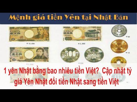 1 yên Nhật bằng bao nhiêu tiền Việt?  Cập nhật tỷ giá Yên Nhật đổi tiền Nhật sang tiền Việt