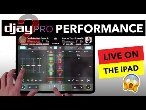 IPad DJ Mix - Algoriddim Djay Pro 2 Live Performance