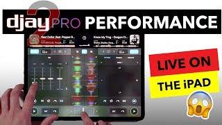 iPad DJ Mix - Algoriddim djay Pro 2 Live Performance