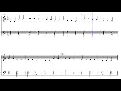 Free Sheet Music For Twinkle Twinkle Little Star with Block Chords