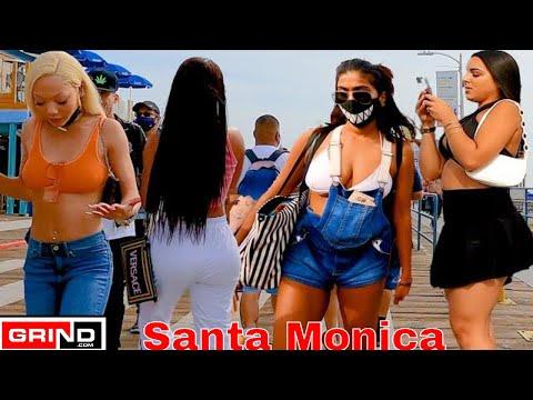 Santa Monica Beach Pier Beautiful Saturday Beautiful People Virtual Bike Tour Grind.
