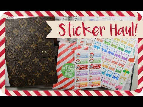 Etsy Planner Sticker Haul! #PLANMAS Day 1
