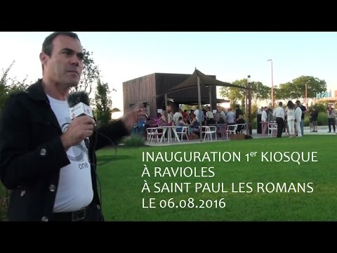 Inauguration 1er Kiosque à ravioles à Saint Paul les Romans