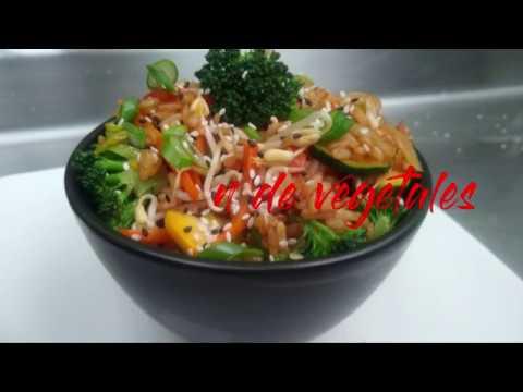 Chow fan de vegetales.