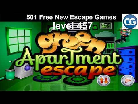 [Walkthrough] 501 Free New Escape Games Level 457 - Green Apartment Escape - Complete Game