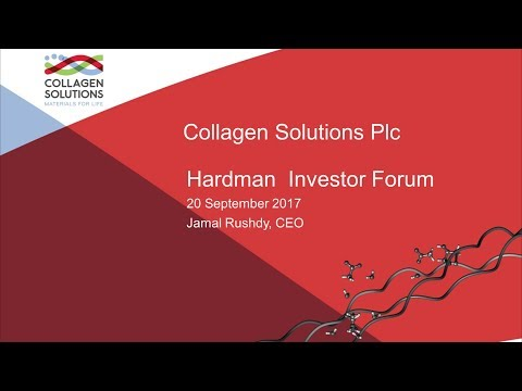 Collagen Solutions (COS) Hardman & Co's investor forum presentation September 2017