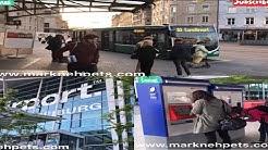 Bus From France EuroAirport Basel-Mulhouse-Freiburg To Basel City Center Switzerland