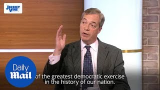 Nigel Farage on Brexit vote: 'A complete betrayal for Britain'